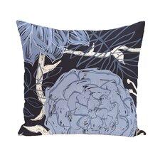 Flower Power Polyester Throw Pillow