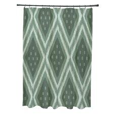 I-Kat U-Dog Geometric Shower Curtain