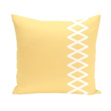 Coastal Calm Geometric Throw Pillow