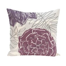 Flower Power Polyester Throw Pillow
