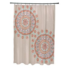 Coastal Calm Geometric Shower Curtain