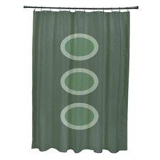 Flower Power Geometric Shower Curtain