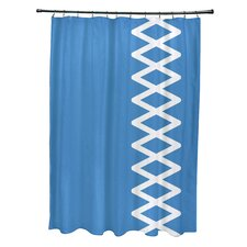 Coastal Calm Geometric Shower Curtain