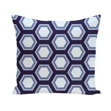 Hex Appeal Geometric Print Outdoor Pillow