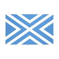 """X"" Marks The Spot Geometric Print Throw Blanket"