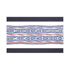 Ikat Ribbon Stripes Print Throw Blanket