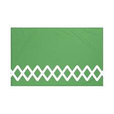 Lace Up Geometric Print Throw Blanket