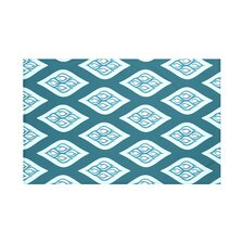 Tail Feathers Geometric Print Throw Blanket