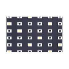 Hip to be Square Geometric Print Throw Blanket