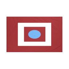 Square Peg Round Circle Geometric Print Throw Blanket