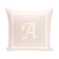 Geneva Box Monogram Throw Pillow