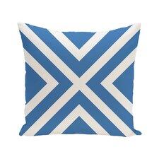 """X"" Marks the Spot Stripes Print Outdoor Pillow"