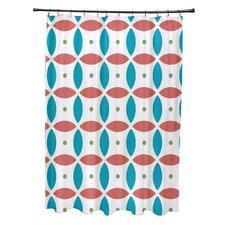 Beach Ball Geometric Print Shower Curtain