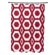 More Hugs and Kisses Geometric Print Shower Curtain