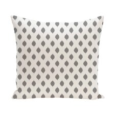 Cop-Ikat Geometric Print Throw Pillow