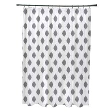 Cop-Ikat Geometric Print Shower Curtain