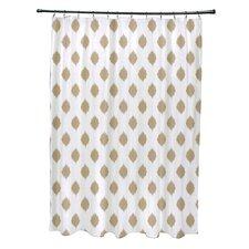 Cop-Ikat Geometric Print Shower Curtain