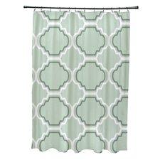 Road to Morocco Geometric Print Shower Curtain