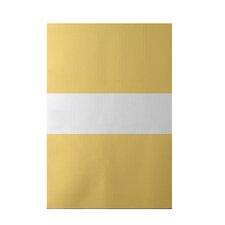 Narrow the Gap Stripe Print Soft Lemon Indoor/Outdoor Area Rug