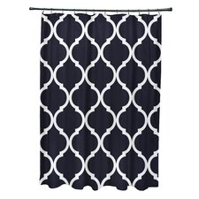French Quarter Geometric Print Shower Curtain