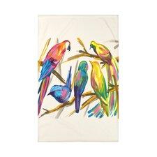 Happy Birds Print Throw Blanket