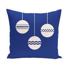 Geo-Bulbs Decorative Holiday Print Throw Pillow