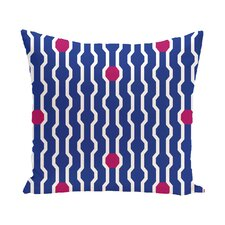 Nuts and Bolts Decorative Holiday Geometric Print Throw Pillow