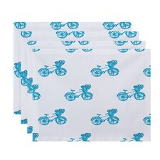 Bicycles! Geometric Placemat (Set of 4)