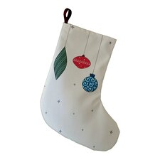 Light Bright Decorative Holiday Print Christmas Stocking