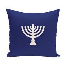 Holiday Geometric Print Menorah Major Throw Pillow