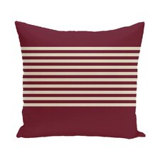 Half Stripe Throw Pillow