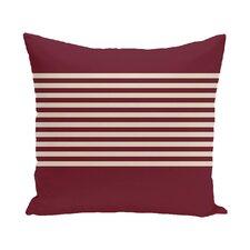 Half Stripe Throw Pillow