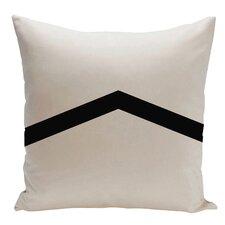 Geometric Stripe Cotton Throw Pillow