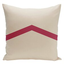 Geometric Stripe Cotton Throw Pillow