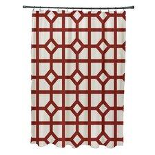Don't Fret Geometric Print Shower Curtain