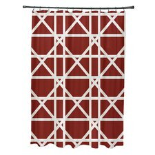 Trellis Geometric Print Shower Curtain