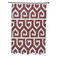 Keyed Up Geometric Print Shower Curtain