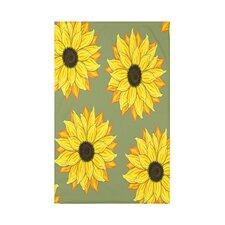 Sunflower Power Flower Print Throw Blanket