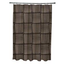 Basketweave Geometric Print Shower Curtain