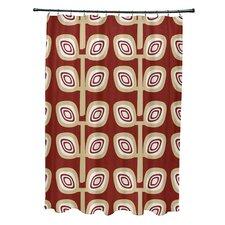Leaf Tree Geometric Print Shower Curtain