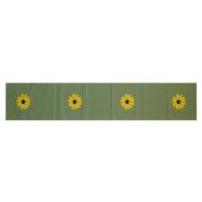 Sunflower Power Floral Print Table Runner