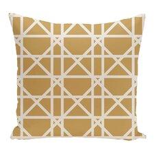Trellis Geometric Print Throw Pillow