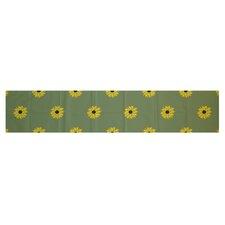 Sunflower Frenzy Floral Print Table Runner
