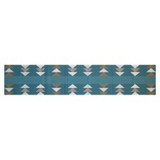 Sagebrush Geometric Print Aqua Indoor/Outdoor Area Rug