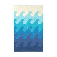 Surf, Sand, & Sea Deep Sea Geometric Throw Blanket