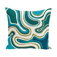 Beach Vacation Agate Geometric Outdoor Throw Pillow