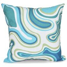 Beach Vacation Agate Geometric Throw Pillow