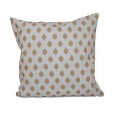 Cop-Ikat Geometric Print Throw Pillow