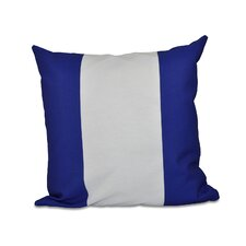 Big Stripe Vertical Faux Down Fill Throw Pillow