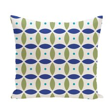 Beach Ball Geometric Print Throw Pillow